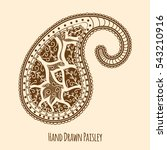 elegant hand drawn paisley   Shutterstock .eps vector #543210916
