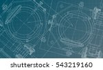 mechanical engineering drawing. ... | Shutterstock . vector #543219160