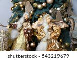 christmas toys on the christmas ... | Shutterstock . vector #543219679