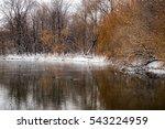 Sunset On The River Ducks Winter