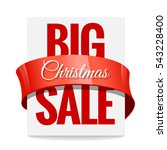 big christmas sale. label ... | Shutterstock .eps vector #543228400