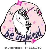 cartoon fairytale unicorn on... | Shutterstock .eps vector #543231760