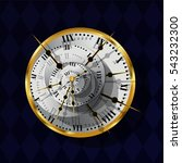 surrealistic gold watch with... | Shutterstock .eps vector #543232300