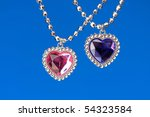 silver pendant isolated on the... | Shutterstock . vector #54323584