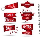 sale banner design. set of... | Shutterstock .eps vector #543235858