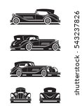 classic car in perspective  ... | Shutterstock .eps vector #543237826
