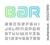 linear font. vector alphabet... | Shutterstock .eps vector #543237850