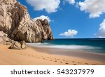 dramatic view of beach with... | Shutterstock . vector #543237979