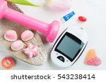 pink dumbbell  sweets and... | Shutterstock . vector #543238414