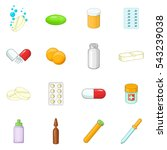 medicine drugs icons set.... | Shutterstock .eps vector #543239038