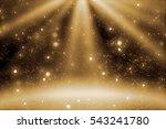 stage light and goldenr glitter ... | Shutterstock . vector #543241780