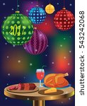 new year's background with a... | Shutterstock .eps vector #543242068