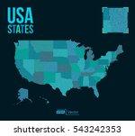 dot matrix vector united states ...   Shutterstock .eps vector #543242353