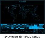 a retro infographic... | Shutterstock .eps vector #543248533
