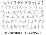 cartoon icons set of sketch... | Shutterstock .eps vector #543249274