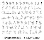 cartoon icons set of sketch... | Shutterstock .eps vector #543249280
