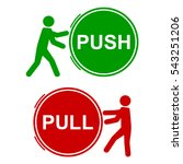 push and pull signs  vector... | Shutterstock .eps vector #543251206