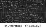 math vector seamless texture... | Shutterstock .eps vector #543251824