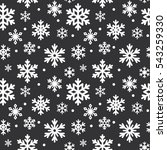 seamless pattern of winter... | Shutterstock .eps vector #543259330