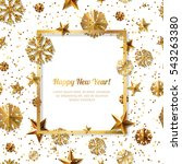 new year concept. 3d gold stars ... | Shutterstock .eps vector #543263380