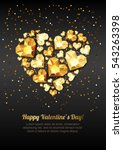 happy valentines day vector... | Shutterstock .eps vector #543263398