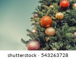 fir tree spruce with christmas... | Shutterstock . vector #543263728