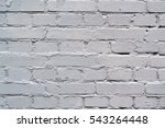 Brick Wall Of White Painted...