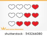 heart background | Shutterstock .eps vector #543266080
