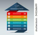 infographic arrow design... | Shutterstock .eps vector #543268699