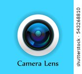 camera lens isolate on white... | Shutterstock .eps vector #543268810