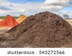 Black Mulch Or Wood Chip Mound...