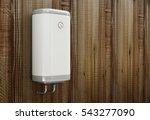 modern electric water heater on ... | Shutterstock . vector #543277090