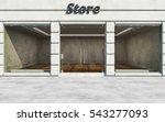 modern elite empty store front... | Shutterstock . vector #543277093