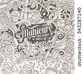 cartoon cute doodles hand drawn ... | Shutterstock .eps vector #543287140