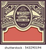 whiskey card with old frame | Shutterstock .eps vector #543290194