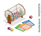 lottery machine with lottery... | Shutterstock .eps vector #543291076