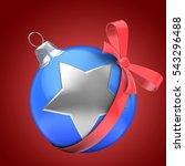 3d illustration of blue... | Shutterstock . vector #543296488