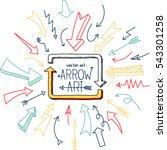set of arrow doodle   vector... | Shutterstock .eps vector #543301258