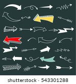 set of arrow doodle   vector... | Shutterstock .eps vector #543301288