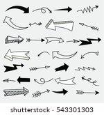 set of arrow doodle   vector...   Shutterstock .eps vector #543301303