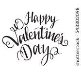 happy valentine's day. vector... | Shutterstock .eps vector #543302098