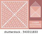 square laser cut envelope...   Shutterstock .eps vector #543311833