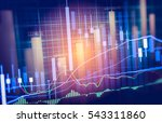 stock market trading graph and... | Shutterstock . vector #543311860