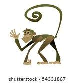 friendly monkey | Shutterstock .eps vector #54331867