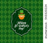 saint patrick's day card with... | Shutterstock .eps vector #543320224