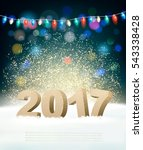 holiday background with 2017... | Shutterstock .eps vector #543338428