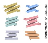 set of retro ribbons banners... | Shutterstock .eps vector #543338803