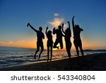 group of happy young people... | Shutterstock . vector #543340804