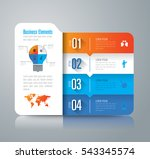 infographic design vector and... | Shutterstock .eps vector #543345574