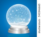 christmas snow globe isolated... | Shutterstock .eps vector #543346660